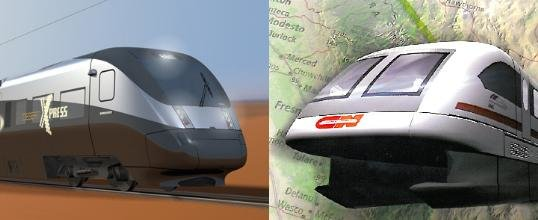 Artists impressions - DesertXpress and CalTrans Maglev